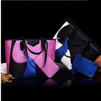 2014 autumn and winter bags women's handbag big bag fashion trend of fashion color block handbag