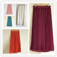 2014 New Pleated Chiffon Skirt Bohemia Summer Sweet Ladies Women Cool Fresh Skirt 11 Color