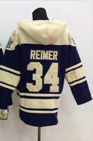 #34 James Reimer Old Time Hoodie Jersey Toronto Sweatshirt , Stitched and Sewn