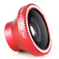 for iPhone 4S & for iPhone 5S 6 Plus & for mobile phone fisheye lens 180 fish eye lente olho de peixe adhesive celular 1pcs CL-2