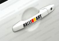 Ralliart vinyl decal for car's door handle car sticker 4 pcs in one set