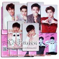 1 set = 6 pieces EXO Card K Baskin Robbins OFFICIAL PHOTO CARD K team Card album exo kpop hoodie bts