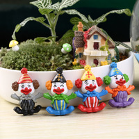 4 pieces/lot Circus clown small ornaments toys Cartoon toys Action figure Anime figure Toys children gift free shipping