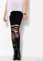 Spring/summer 2015 collection Europe and the United States asymmetric hollow out thin Joker high stretch leggings pants