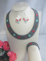 A-3329 Amazing African Coral necklace  set For Women Wedding Party