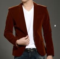 Men luxury blazer slim fit spring autumn jacket and coat red velvet male blaser party wear 4xl Free shipping