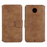 retro card slot Flip Case PU Leather wallet Cover For Motorola Necus 6