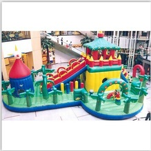Free Shipping New Large Outdoor Inflatable Recreation Castle Inflatable Entertainment City (Bady toy)(China (Mainland))