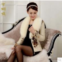 New Women Sheep Skin Leather Short Slim Leopard Print Raccoon Fur Collar Coat Plus Size V-Neck Zipper Leather Fur Coat 5XL H3149(China (Mainland))