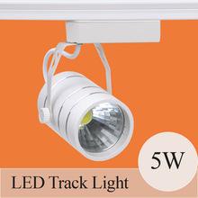 Einzelhandel 5w led track beleuchtung 85v-ac265v aluminium weiß schwarze hülle schiene deckenleuchte strahler(China (Mainland))
