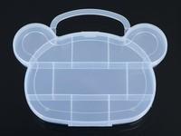Clear Plastic Cat Head Body Jewelry Storage Box Case Craft Organizer Beads New