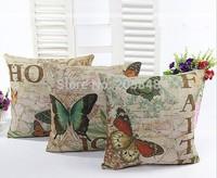 45*45cm Butterfly Flower Cushion Cover Pillow Cover Almofadas Decorativas Pillowcase Gift for Home Decor