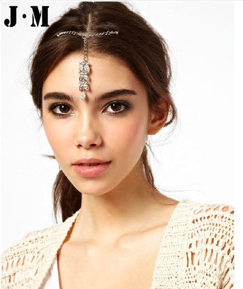 Free shipping 2014 One pcs for sale fashion wedding bridal bridal hair accessories,designer metal hair clamp,crystal hair clip(China (Mainland))