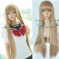 Angelaicos Blast Of Tempest Aika Fuwa Lolita Long Straight Blonde Costume Party Cosplay Wig
