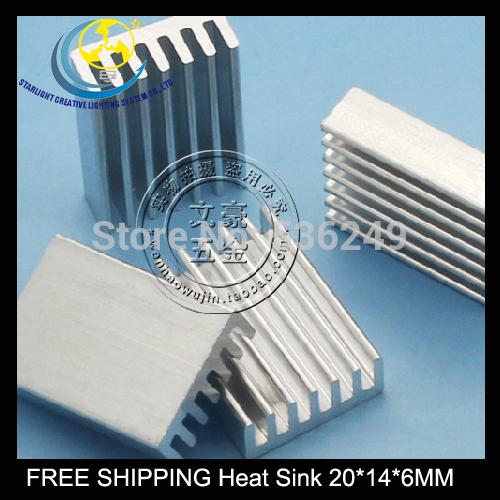 Гаджет  Free Shipping High quality heat sink / router PCU extrusion Electronic radiator piece 20*14*6MM 24pcs/lot None Строительство и Недвижимость