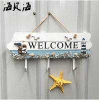 Mediterranean welcome welcome back card decorative hooks coat hooks creative entrance door listing