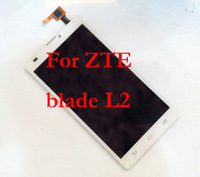 Free shipping Original LCD Display +digitizer touch Screen Glass For ZTE Blade L2 Black or White