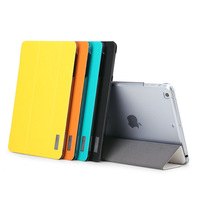 ROCK Elegant Leather Case For iPad Air cover PU Leather + PC Back Cover For iPad Air Case Free Shipping