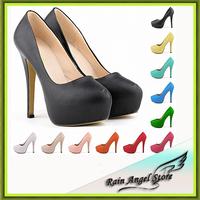 Sexy Nightclub Style Matte Bridal Shoes Women High Heels Shoes Candy Color Women Platform Shoes 14cm