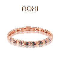 ROXI fashion jewelry heart linked to heart model gift 18k gold plated ladies bangle bracelets for women personalized bracelets