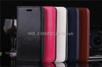 Factory Wholesale 500pcs/lot phone cases Oil wax pattern genuine cover bag sheath leather case for iphone 6 4.7 inch