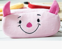 F09878 Plush Pencil Pen Bag Case Cosmetic Makeup Pouch Kids Storage Shool Student Stationery Cartton Piggy Pattern +FS