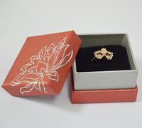 6X Jewelry Packaging Organizer Red Paper Jewellery Ring/Stud Earrings Storage Box 5*5*3.5(CM)