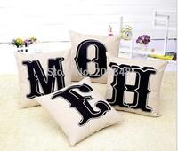 4pcs 45*45cm New Arrive Letters Printing HOME Cotton Sofa Cushion Cover Linen Pillow Cover Pillowcase Almofadas Decorativas