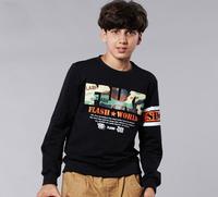 Aones Autumn Boy's T-shirt Long Sleeve Cotton Children Tops Fashion Letter Printed Tee Boys Kids Clothes Roupas Meninos F-4DS032