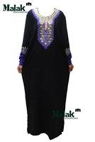 Free shipping kaftan jilbabs and Islamic embroidery clothing for woman new fashion abaya muslim abaya for lady