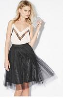 2015 spring and summer gauze skirts shirring waist A-line dress tutu skirt freeshipping free shipping