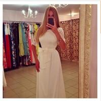 vestido-де-Феста Лонго 2015 весны женщин блесток платье давно макси Сплит вечер выпускной стороны белый спагетти ремень пляж платье