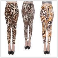 2015  New Hot Sale New Stylish High quality Lady Sexy Leopard Leggings Fashion European and American Women Stretch Slim Pants