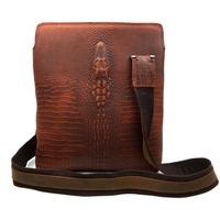 New Fashion Alligator Head Design Men Bags Natural Crazy Horse Leather Should Cross-body Bag Vintage Men Messenger Bags