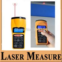 """1.8"""" LCD Ultrasonic Distance Measurer with Red Laser Pointer Handheld Digital Laser Pointer Digital Measurer Tool 5pcs/1lot"""