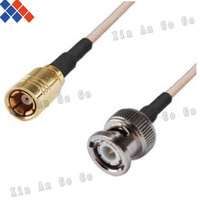 Wholesale 10pcs RF connector BNC male to SMB female type RG316 Pigtail Cable 15CM Free shipping