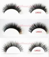 Free shipping false eyelash 100% luxury mink fur strip eyelash