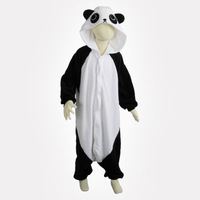 Cosplay Animal Anime Kongfu Panda Kids Unisex Onesie Pajamas Halloween Girls Boys Fleece Party Dress Pyjama Sleepwear
