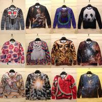 New 2015 Brand Fall/Autumn Pullovers 3D Hoodies Sweatshirts For Men Panda/Watermelon/Starry Sky/ Sweatshirt Cat Sweaters Top