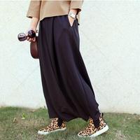 New black blue red Loos Casual wide leg pants,cotton sport pants & capris,women Capris harem pants,plus size S-5XL