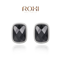 ROXI  fashion jewelry gift 18k gold plated m size one piece gem drop earrings for weomen girls earrings Chrismas gift