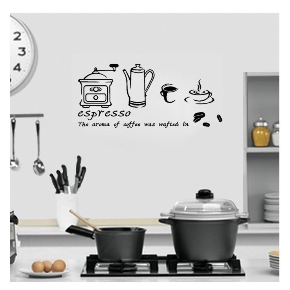 coffee espresso maker wall kitchen sticker home window