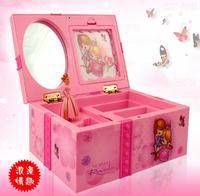 Girls Childrens Gift Pink Beautiful Ballet Dance Music Jewellery Box & Make Up Box  Photo Frame Musical Box  Kids Doll