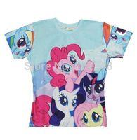 2015 New high quality Women's Men's Short Sleeve T shirt Fashion My Little Pony 3D t shirt S M L XL XXL