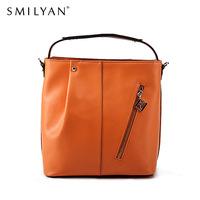 Smilyan women messenger bags genuine leather bucket bolsas desigual bag famous brands handbag designer handbags high quality