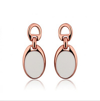 Gold plated fashion earrings Rose gold delicate Dangle Earrings  Free Shipping
