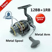 Hot Sale Super Technology Fishing Reel 12BB + 1 Bearing Balls 1000-7000 Series Spinning Reel Boat Rock Fishing Wheel