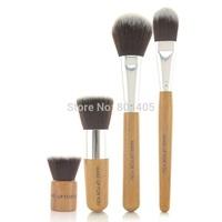4pcs bamboo handle makeup brush set, cosmetic brush set