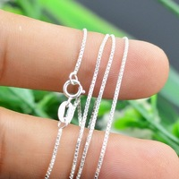 Free shipping 990 Sterling silver necklace chain