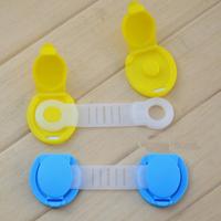 5Pcs/lot Baby Safety Lock Cabinet Door Desk Drawer Cupboard Plastic Lock Child Kids Safe Locks Freeshipping